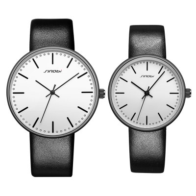 Sinobi 9601G Fashion 3ATM Waterproof Couple WatchesCouples Watches<br>Sinobi 9601G Fashion 3ATM Waterproof Couple Watches<br><br>Brand: Sinobi<br>Watches categories: Couple tables<br>Watch style: Fashion<br>Watch color: Silver + White, Silver + Black, White + Black, White + Brown<br>Shape of the dial: Round<br>Movement type: Quartz watch<br>Display type: Analog<br>Case material: Alloy<br>Band material: PU Leather<br>Clasp type: Pin buckle<br>Water resistance : 30 meters<br>Package weight: 0.146 kg<br>Package size (L x W x H): 28.00 x 8.00 x 3.50 cm / 11.02 x 3.15 x 1.38 inches<br>The male dial dimension (L x W x H): 4.02 x 4.02 x 0.77 cm / 1.58 x 1.58 x 0.30 inches<br>The male watch band dimension (L x W): 23.6 x 1.86 cm / 9.29 x 0.73 inches<br>The male watch weight: 0.032kg<br>The male watch size (L x W x H): 23.6 x 4.02 x 0.77 cm / 9.29 x 1.58 x 0.30 inches<br>The female dial dimension (L x W x H): 3.24 x 3.24 x 0.77 cm / 1.28 x 1.28 x 0.30 inches<br>The female watch band dimension (L x W): 22.5 x 1.5 cm / 8.86 x 0.59 inches<br>The female watch weight: 0.024kg<br>The female size (L x W x H): 22.5 x 3.24 x 0.77 cm / 8.86 x 1.28 x 0.30 inches<br>Package Contents: 1 x Sinobi 9601G Fashion Couple Watches