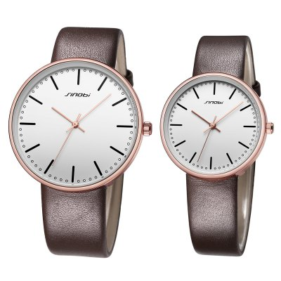 Sinobi 9601G Fashion 3ATM Waterproof Couple Watches