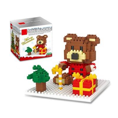 Christmas Series Bear Building Block Model