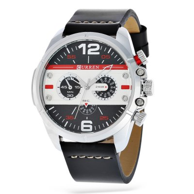 CURREN 8259 Fashion Decorative Sub-dial Men Quartz Watch
