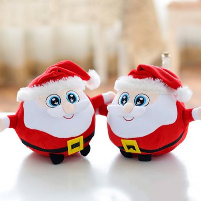 7.87 inch Lovely Soft Christmas Santa Clause Plush Toy - 1pc
