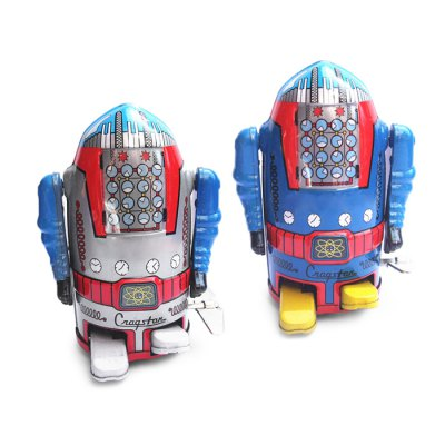 Walking Wind-up Robot Tin Vintage GiftClassic Toys<br>Walking Wind-up Robot Tin Vintage Gift<br><br>Appliable Crowd: Unisex<br>Materials: Metal<br>Nature: Robot<br>Package Contents: 1 x Tin Toy<br>Package size: 10.00 x 10.00 x 15.00 cm / 3.94 x 3.94 x 5.91 inches<br>Package weight: 0.120 kg<br>Product size: 7.00 x 6.50 x 10.50 cm / 2.76 x 2.56 x 4.13 inches<br>Product weight: 0.106 kg<br>Specification: Chinese
