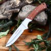 Tonife HKT4002 Fixed Blade Knife with Wooden Handle