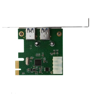 PCI-E to USB 3.0 Controller Card Computer ComponentOther PC Parts<br>PCI-E to USB 3.0 Controller Card Computer Component<br><br>Package size: 14.50 x 13.20 x 3.00 cm / 5.71 x 5.2 x 1.18 inches<br>Package weight: 0.107 kg<br>Packing List: 1 x USB 3.0 to PCI-E Extender Card, 1 x CD<br>Product weight: 0.043 kg<br>Type: Controller Card
