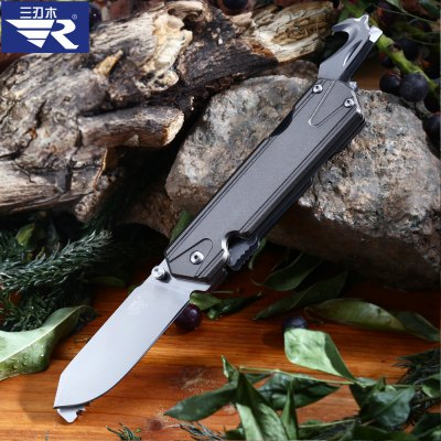 Sanrenmu 7117 LUX - LK - T5 Folding Serrated Knife / Saw / Rope CutterMultitools<br>Sanrenmu 7117 LUX - LK - T5 Folding Serrated Knife / Saw / Rope Cutter<br><br>Blade Length: 6.5cm<br>Blade Material: Stainless Steel<br>Blade Width : 2cm<br>Brand: Sanrenmu<br>Clip Length: 5cm<br>Fold Length: 9.8cm<br>For: Daily Use, Camping, Adventure<br>Lock Type: Frame Lock<br>Material: Aluminum Alloy<br>Package Contents: 1 x Sanrenmu 7117 LUX - LK - T5 Multi-use knife<br>Package size (L x W x H): 10.30 x 2.50 x 2.00 cm / 4.06 x 0.98 x 0.79 inches<br>Package weight: 0.146 kg<br>Product size (L x W x H): 16.30 x 2.30 x 2.60 cm / 6.42 x 0.91 x 1.02 inches<br>Product weight: 0.110 kg<br>Type: Multitools<br>Unfold Length: 16.3cm