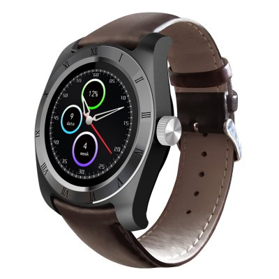 Zeblaze Classic Heart Rate Monitor Smart WatchSmart Watches<br>Zeblaze Classic Heart Rate Monitor Smart Watch<br><br>Brand: Zeblaze<br>Built-in chip type: MTK2502<br>Bluetooth version: Bluetooth 4.0<br>RAM: 64MB<br>ROM: 128MB<br>Waterproof: Yes<br>IP rating: IP65<br>Bluetooth calling: Answering,Callers name display,Phone call reminder,Phonebook<br>Messaging: Message reminder<br>Health tracker: Heart rate monitor,Pedometer,Sedentary reminder,Sleep monitor<br>Remote control function: Remote Camera,Remote music<br>Notification: Yes<br>Notification type: Facebook,WhatsApp<br>Anti-lost: Yes<br>Find phone: Yes<br>Groups of alarm: 3<br>Alert type: Vibration<br>Other Function: Alarm,Calculator,Calender,Countdown,Stopwatch<br>Screen: IPS<br>Screen resolution: 240 x 240<br>Operating mode: Press button,Touch Screen<br>Type of battery: Polymer lithium ion battery<br>Battery Capacty: 250mAh<br>Charging time: About 2hours<br>Standby time: 72 hours<br>People: Female table,Male table<br>Shape of the dial: Round<br>Case material: Aluminium Alloy<br>Band material: Leather<br>Compatible OS: Android,IOS<br>Compatability: Android 4.4 and iOS 8.0 or above systems<br>Language: Dutch,English,French,German,Italian,Polish,Portuguese,Russian,Spanish,Turkish<br>Available color: Black,Brown<br>Dial size: 4.2 x 4.2 x 1.19 cm / 1.65 x 1.65 x 0.47 inches<br>Band size: 25 x 2.2 cm / 9.84 x 0.87 inches<br>Product size (L x W x H): 25.00 x 4.20 x 1.19 cm / 9.84 x 1.65 x 0.47 inches<br>Package size (L x W x H): 9.00 x 9.00 x 8.00 cm / 3.54 x 3.54 x 3.15 inches<br>Product weight: 0.049 kg<br>Package weight: 0.212 kg<br>Package Contents: 1 x Smart Watch, 1 x Box, 1 x Charger, 1 x English and German User Manual