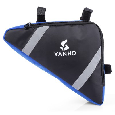YANHO YA085 1.5L Cycling BagBike Bags<br>YANHO YA085 1.5L Cycling Bag<br><br>Brand: Yanho<br>Color: Black,Blue,Orange,Red<br>Emplacement: Front Tube<br>For: Unisex<br>Material: Oxford Fabric<br>Model Number: YA085<br>Package Contents: 1 x YANHO YA085 1.5L Bike Front Tube Bag<br>Package Dimension: 25.00 x 22.00 x 5.00 cm / 9.84 x 8.66 x 1.97 inches<br>Package weight: 0.1200 kg<br>Product Dimension: 23.00 x 20.00 x 6.00 cm / 9.06 x 7.87 x 2.36 inches<br>Product weight: 0.0830 kg<br>Suitable for: Mountain Bicycle, Fixed Gear Bicycle, Cross-Country Cycling, Touring Bicycle, Road Bike