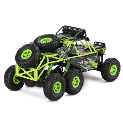 WLtoys 18628 1:18 6WD RC Climbing Car - RTRRC Cars<br>WLtoys 18628 1:18 6WD RC Climbing Car - RTR<br><br>Brand: WLtoys<br>Car Power: Built-in rechargeable battery<br>Detailed Control Distance: 80M<br>Drive Type: 6 WD<br>Features: Radio Control<br>Functions: Brake, Forward/backward, Turn left/right, With light<br>Material: PP, POM, ABS<br>Motor Type: Brushed Motor<br>Package Contents: 1 x RC Car, 1 x Transmitter, 1 x English Manual, 1 x USB Charging Cable, 1 x Screwdriver<br>Package size (L x W x H): 54.50 x 30.50 x 24.50 cm / 21.46 x 12.01 x 9.65 inches<br>Package weight: 2.0600 kg<br>Product size (L x W x H): 38.00 x 18.50 x 17.50 cm / 14.96 x 7.28 x 6.89 inches<br>Product weight: 0.7800 kg<br>Proportion: 1:18<br>Racing Time: About 12mins<br>Remote Control: 2.4GHz Wireless Remote Control<br>Transmitter Power: 4 x 1.5V AA (not included)<br>Type: Crawler Car