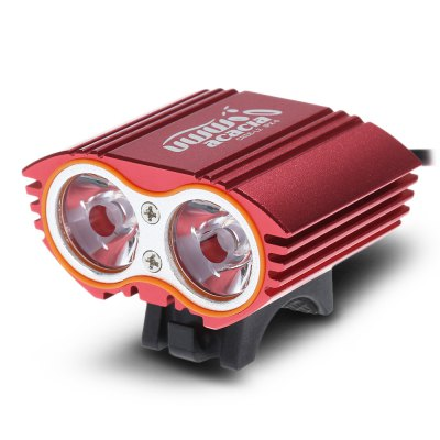 Acacia L2 Cycling LightBike Lights<br>Acacia L2 Cycling Light<br><br>Best Use: Camping,Climbing,Hiking<br>Brand: acacia<br>Color: Black,Blue,Red<br>Features: Waterproof, Superbright, Low Power Consumption, Easy to Install<br>LED Quantity: 2<br>Luminance: 900 - 2400lm<br>Material: Aluminum Alloy<br>Package Contents: 1 x Acacia Bicycle Lamp, 1 x Rubber Ring<br>Package Dimension: 9.00 x 9.00 x 9.00 cm / 3.54 x 3.54 x 3.54 inches<br>Package weight: 0.157 kg<br>Placement: Handlebar<br>Product Dimension: 5.50 x 4.00 x 2.50 cm / 2.17 x 1.57 x 0.98 inches<br>Product weight: 0.095 kg<br>Suitable for: Mountain Bicycle, Fixed Gear Bicycle, Cross-Country Cycling, Road Bike<br>Type: Front Light