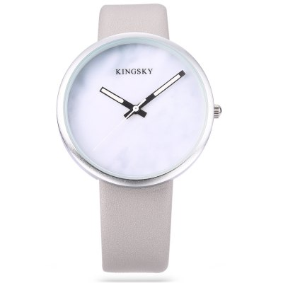 KINGSKY 101M Fashion Unisex Quartz WatchUnisex Watches<br>KINGSKY 101M Fashion Unisex Quartz Watch<br><br>Band material: PU Leather<br>Band size: 23.3 x 1.8 cm / 9.17 x 0.71 inches<br>Brand: Kingsky<br>Case material: Alloys<br>Clasp type: Pin buckle<br>Dial size: 3.8 x 3.8 x 0.8 cm / 1.50 x 1.50 x 0.31 inches<br>Display type: Analog<br>Movement type: Quartz watch<br>Package Contents: 1 x KINGSKY 101M Fashion Unisex Quartz Watch, 1 x Box<br>Package size (L x W x H): 8.50 x 8.00 x 5.30 cm / 3.35 x 3.15 x 2.09 inches<br>Package weight: 0.095 kg<br>People: Female table,Male table<br>Product size (L x W x H): 23.30 x 3.80 x 0.80 cm / 9.17 x 1.5 x 0.31 inches<br>Product weight: 0.035 kg<br>Shape of the dial: Round<br>Watch color: Black, Beige, Off-white, Gray<br>Watch style: Fashion<br>Wearable length: 16.6 - 21 cm / 6.54 - 8.27 inches