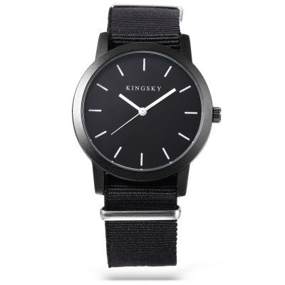 KINGSKY 8209M Fashion Unisex Quartz WatchUnisex Watches<br>KINGSKY 8209M Fashion Unisex Quartz Watch<br><br>Available Color: Black,White<br>Band material: Canvas<br>Band size: 25.5 x 2 cm / 10.04 x 0.79 inches<br>Brand: Kingsky<br>Case material: Alloys<br>Clasp type: Pin buckle<br>Dial size: 3.9 x 3.9 x 1.3 cm / 1.54 x 1.54 x 0.51 inches<br>Display type: Analog<br>Movement type: Quartz watch<br>Package Contents: 1 x KINGSKY 8209M Fashion Unisex Quartz Watch, 1 x Box<br>Package size (L x W x H): 8.50 x 8.00 x 5.30 cm / 3.35 x 3.15 x 2.09 inches<br>Package weight: 0.096 kg<br>People: Female table,Male table<br>Product size (L x W x H): 25.50 x 3.90 x 1.30 cm / 10.04 x 1.54 x 0.51 inches<br>Product weight: 0.036 kg<br>Shape of the dial: Round<br>Watch style: Fashion<br>Wearable length: 15 - 22.5 cm / 5.91 - 8.86 inches