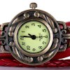 Watch with Wing Pendant Round Dial Leather Band for Women for sale