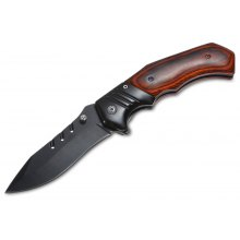 PA83 Browning Pocket Knife with Liner Lock Wooden Handle
