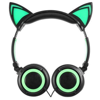 LX - 107 Wired Foldable Cat Ear Design Headphones