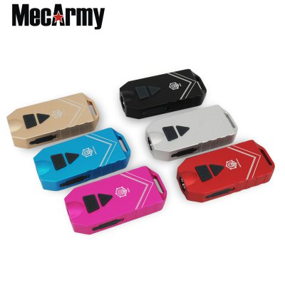 MecArmy SGN7 LED Keychain LightLED Flashlights<br>MecArmy SGN7 LED Keychain Light<br><br>Battery Included or Not: Yes<br>Battery Quantity: 650mAh<br>Battery Type: Lithium Polymer<br>Beam Distance: 100-150m<br>Body Material: Aerospace-grade Aluminum Alloy<br>Brand: MecArmy<br>Color Temperature: 6500K<br>Emitters: Cree XP-G2 S4<br>Emitters Quantity: 1<br>Feature: Rechargeable, Water Resistant, Lanyard, Lightweight, Pocket Clip, Portable<br>Flashlight size: Mini<br>Flashlight Type: Handheld,Tiny<br>Function: Walking, Seeking Survival, Night Riding, Household Use, Hiking, Emergency, EDC, Camping<br>Impact Resistance: 1.5M<br>Light color: Cool White<br>Light Modes: High,Low,Mid,Strobe,Turbo<br>Lumens Range: 500-1000Lumens<br>Luminous Flux: 550Lm<br>Luminous Intensity: 3579cd<br>Max.: 117h<br>Mode: 5 (Turbo; High; Middle; Low; Strobe)<br>Model: SGN7<br>Package Contents: 1 x MecArmy SGN7 LED Keychain Light, 1 x Lanyard, 1 x USB Cable, 2 x Keyring, 1 x English Manual<br>Package size (L x W x H): 12.00 x 6.00 x 3.00 cm / 4.72 x 2.36 x 1.18 inches<br>Package weight: 0.1000 kg<br>Power: 3W<br>Power Source: Battery<br>Product size (L x W x H): 7.50 x 3.40 x 1.40 cm / 2.95 x 1.34 x 0.55 inches<br>Product weight: 0.0570 kg<br>Rechargeable: Yes<br>Switch Location: Side Switch<br>Waterproof Standard: IPX-5 Standard Waterproof<br>Working Voltage: 3-5V