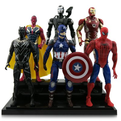 Animation Character Action Figure Model - 6pcs / set