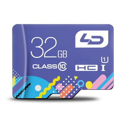LD Colorful Edition 32GB Micro SDHC Memory Card