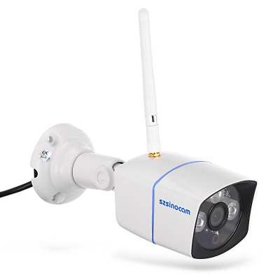 Szsinocam SN - IPC - 3015FSW10 1.0MP WiFi IP CameraIP Cameras<br>Szsinocam SN - IPC - 3015FSW10 1.0MP WiFi IP Camera<br><br>Alarm Notice: Email Photo<br>APP: CamViews<br>APP Language: Chinese,English<br>Backlight Compensation: No<br>Brand: Szsinocam<br>Color: White<br>Compatible Operation Systems: Microsoft Windows 98 / ME / 2000 / XP,Microsoft Windows 98/ ME /2000/ XP,Windows 10,Windows 7,Windows 8,Windows Vista<br>Environment: Indoor,Outdoor<br>FOV: 72 degree<br>Frame Rate (FPS): 25fps<br>Image Adjustment: Brightness,Color saturation,Contrast,Hue<br>Infrared Distance: 20m<br>Infrared LED: 3pcs array LEDs<br>IP camera performance: Screenshot, Motion Detection, Real-time video capture and recording, Night Vision<br>IP Mode : Dynamic IP address, static IP address<br>Language: Chinese,English<br>Maximum Monitoring Range: 20m<br>Minimum Illumination: 0.01 Lux<br>Mobile Access: Android,IOS<br>Model: SN-IPC-3015FSW10<br>Motion Detection Distance: 30m<br>Network Port: RJ-45<br>Operate Temperature (?): -20 - 50 Celsius degree<br>Operating system: Microsoft Windows 2000,Microsoft Windows 7,Microsoft Windows 8,Microsoft Windows 98,Microsoft Windows Vista,Microsoft Windows XP<br>Package Contents: 1 x IP Camera, 1 x English User Manual, 1 x Power Adapter, 1 x CD, 3 x Screw, 3 x Screw Cap, 1 x Screw Driver, 1 x Antenna<br>Package size (L x W x H): 21.00 x 11.00 x 12.00 cm / 8.27 x 4.33 x 4.72 inches<br>Package weight: 0.632 kg<br>Pixels: 1MP<br>Product size (L x W x H): 6.50 x 6.50 x 18.50 cm / 2.56 x 2.56 x 7.28 inches<br>Product weight: 0.403 kg<br>Protocol: DDNS,DHCP,FTP,HTTP,IP,LAN,ONVIF,P2P,RTSP,SMTP<br>Resolution: 1280 x 720<br>Sensor: CMOS<br>Sensor size (inch): 1/4<br>Shape: Bullet Camera<br>Technical Feature: Waterproof, Infrared<br>Video Compression Format: H.264<br>Video format: AVI<br>Video Standard: NTSC,PAL<br>Waterproof: IP67<br>Web Browser: IE,Microsoft Internet Explorer 6.0 above<br>White Balance: No<br>WiFi Distance : 100M with no obstacles<br>Working Voltage: 12V / 1A