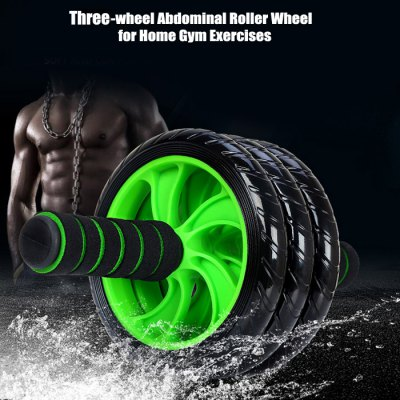 Three-wheel Abdominal Roller Wheel for Home Gym Exercises