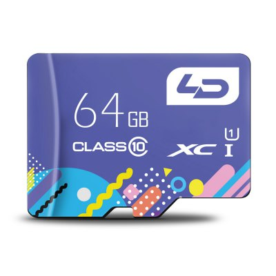 LD Colorful Edition 64GB Micro SDHC Memory Card