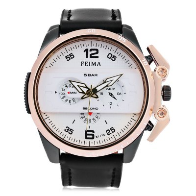 FEIMA 1208 Fashion Men Quartz WatchMens Watches<br>FEIMA 1208 Fashion Men Quartz Watch<br><br>Available Color: Black,Blue,Red,White<br>Band material: Leather<br>Band size: 26 x 2.3 cm / 10.24 x 0.91 inches<br>Brand: FEIMA<br>Case material: Alloy<br>Clasp type: Pin buckle<br>Dial size: 4.8 x 4.8 x 1.5 cm / 1.89 x 1.89 x 0.59 inches<br>Display type: Analog<br>Movement type: Quartz watch<br>Package Contents: 1 x FEIMA 1208 Fashion Men Quartz Watch, 1 x Box<br>Package size (L x W x H): 8.50 x 8.00 x 5.30 cm / 3.35 x 3.15 x 2.09 inches<br>Package weight: 0.137 kg<br>Product size (L x W x H): 26.00 x 4.80 x 1.50 cm / 10.24 x 1.89 x 0.59 inches<br>Product weight: 0.087 kg<br>Shape of the dial: Round<br>Watch style: Fashion<br>Watches categories: Male table<br>Wearable length: 19.1 - 23 cm / 7.52 - 9.06 inches