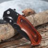 PA83 Browning Pocket Knife with Liner Lock Wooden Handle deal
