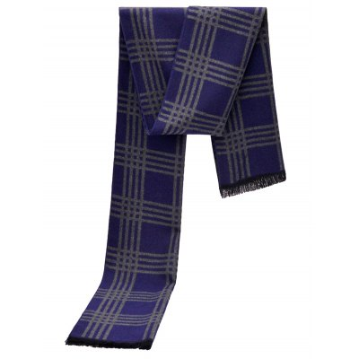 Classic Plaid Scarf with Tassel