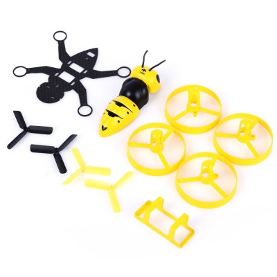 FuriBee F90 90mm Wasp DIY Frame KitRacing Frame<br>FuriBee F90 90mm Wasp DIY Frame Kit<br><br>Brand: FuriBee<br>Package Contents: 1 x Body Shell, 1 x Carbon Fiber Chassis, 4 x Propeller, 4 x Propeller Protector, 1 x Battery Holder<br>Package size (L x W x H): 10.00 x 10.00 x 5.00 cm / 3.94 x 3.94 x 1.97 inches<br>Package weight: 0.116 kg<br>Product size (L x W x H): 9.00 x 13.00 x 2.00 cm / 3.54 x 5.12 x 0.79 inches<br>Product weight: 0.016 kg<br>Type: Frame Kit<br>Version: KIT