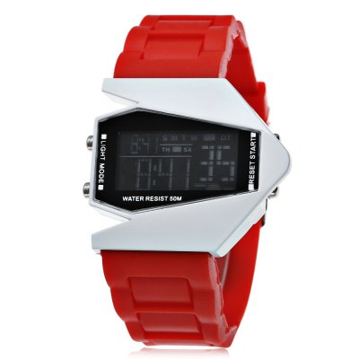 Plane Model Colorful LED Watch