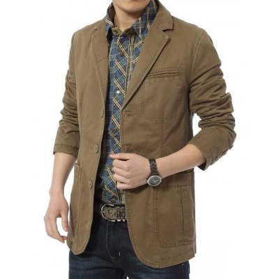 Jeep Rich Leisure JacketMens Jackets &amp; Coats<br>Jeep Rich Leisure Jacket<br><br>Closure Type: Single Breasted<br>Clothes Type: Jackets<br>Collar: Turn-down Collar<br>Colors: Army green,Khaki<br>Embellishment: Others<br>Materials: Cotton, Polyester<br>Package Content: 1 x Jeep Rich Leisure Jacket<br>Package Dimension: 40.00 x 30.00 x 8.00 cm / 15.75 x 11.81 x 3.15 inches<br>Package weight: 0.940 kg<br>Pattern Type: Solid<br>Product weight: 0.800 kg<br>Seasons: Autumn,Spring<br>Shirt Length: Regular<br>Size1: 2XL,3XL,4XL,L,M,XL<br>Sleeve Length: Long Sleeves<br>Style: Casual<br>Thickness: Thin