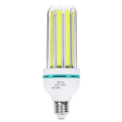 E27 24W 6000K 2000Lm COB U-shaped LED Light Bulb