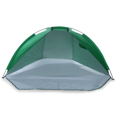 Portable Anti-UV Water-resistant Fishing Tent Beach SunshadeTent<br>Portable Anti-UV Water-resistant Fishing Tent Beach Sunshade<br><br>Color: Grass Green,Lake blue<br>Features: Breathable, Waterproof, Wind Proof<br>Package Content: 1 x Fishing Tent, 3 x Pole, 4 x Peg with Pouch, 1 x Storage Bag<br>Package size: 63.00 x 9.00 x 9.00 cm / 24.8 x 3.54 x 3.54 inches<br>Package weight: 1.080 kg<br>Product size: 240.00 x 120.00 x 120.00 cm / 94.49 x 47.24 x 47.24 inches<br>Product weight: 1.000 kg<br>Type: Manual Tent