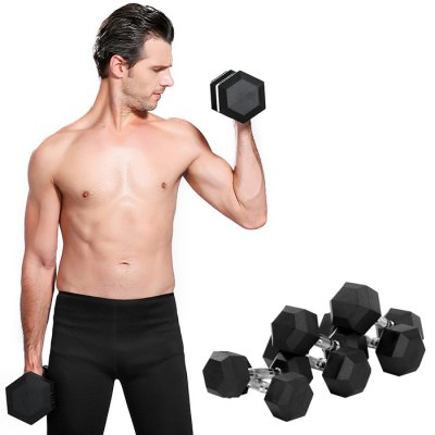 Environmental Rubber Coating Hexagonal Dumbbell