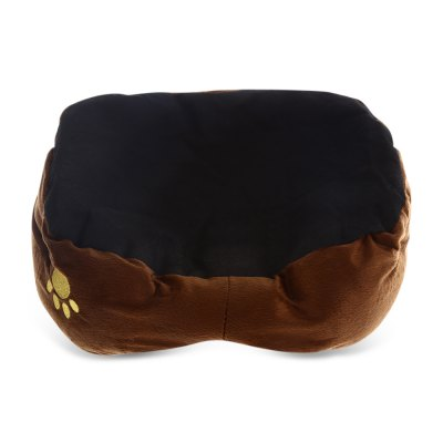 Trendy Plush Pet Bed with Removable Pet Pad for Dog Cat Ferret (Coffee) от GearBest.com INT