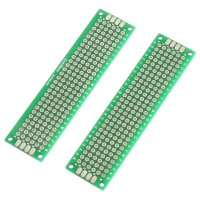 7 in 1 Double Sided Printed Circuit Board Kit for DIYOther Accessories<br>7 in 1 Double Sided Printed Circuit Board Kit for DIY<br><br>Color: Green<br>Package Contents: 5 x Pin Header, 2 x Circuit Board<br>Package Size(L x W x H): 12.00 x 4.50 x 3.00 cm / 4.72 x 1.77 x 1.18 inches<br>Package weight: 0.035 kg<br>Product Size(L x W x H): 10.00 x 2.00 x 1.50 cm / 3.94 x 0.79 x 0.59 inches<br>Product weight: 0.017 kg