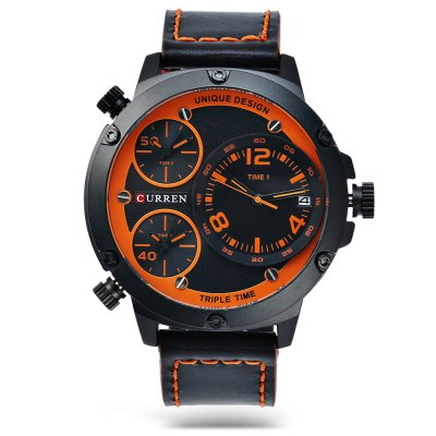 CURREN 8262 Casual Men Quartz WatchMens Watches<br>CURREN 8262 Casual Men Quartz Watch<br><br>Band material: Leather<br>Band size: 28 x 2.3 cm / 11.02 x 0.91 inches<br>Brand: Curren<br>Case material: Alloy<br>Clasp type: Pin buckle<br>Dial size: 5.2 x 5.2 x 1.5 cm / 2.05 x 2.05 x 0.59 inches<br>Display type: Analog<br>Movement type: Multiple Movt<br>Package Contents: 1 x CURREN 8262 Casual Men Quartz Watch, 1 x Box<br>Package size (L x W x H): 12.00 x 8.00 x 8.00 cm / 4.72 x 3.15 x 3.15 inches<br>Package weight: 0.233 kg<br>Product size (L x W x H): 28.00 x 5.20 x 1.50 cm / 11.02 x 2.05 x 0.59 inches<br>Product weight: 0.103 kg<br>Shape of the dial: Round<br>Watch color: White + Brown, Coffee + Orange, Coffee + Yellow, Black + Red, Black + Orange<br>Watch style: Casual<br>Watches categories: Male table<br>Wearable length: 20.2 - 25 cm / 7.95 - 9.84 inches