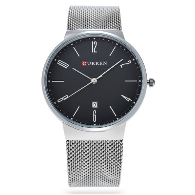 CURREN 8257 Business Men Quartz WatchMens Watches<br>CURREN 8257 Business Men Quartz Watch<br><br>Band material: Steel<br>Band size: 23 x 2.1 cm / 9.06 x 0.83 inches<br>Brand: Curren<br>Case material: Alloy<br>Clasp type: Hook buckle<br>Dial size: 4 x 4 x 0.7 cm / 1.57 x 1.57 x 0.28 inches<br>Display type: Analog<br>Movement type: Quartz watch<br>Package Contents: 1 x CURREN 8257 Business Men Quartz Watch, 1 x Box<br>Package size (L x W x H): 11.50 x 8.00 x 8.00 cm / 4.53 x 3.15 x 3.15 inches<br>Package weight: 0.201 kg<br>Product size (L x W x H): 23.00 x 4.00 x 0.70 cm / 9.06 x 1.57 x 0.28 inches<br>Product weight: 0.071 kg<br>Shape of the dial: Round<br>Watch color: Black + Gold, Silver + White, Silver + Black, White + Black, Black<br>Watch style: Business<br>Watches categories: Male table