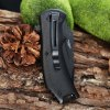 440 Stainless Steel Liner Lock Folding Serrated Hunting Knife photo