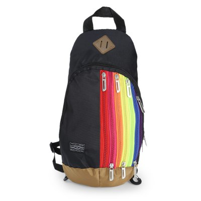 Rainbow Nylon 3.5L Leisure Backpack Sling BagSling Bag<br>Rainbow Nylon 3.5L Leisure Backpack Sling Bag<br><br>Bag Capacity: 3.5L<br>Capacity: 1 - 10L<br>For: Casual<br>Material: Nylon<br>Package Contents: 1 x Backpack<br>Package size (L x W x H): 37.00 x 22.00 x 2.00 cm / 14.57 x 8.66 x 0.79 inches<br>Package weight: 0.264 kg<br>Product size (L x W x H): 21.00 x 10.00 x 35.00 cm / 8.27 x 3.94 x 13.78 inches<br>Product weight: 0.219 kg<br>Strap Length: 50 - 85cm<br>Type: Backpack