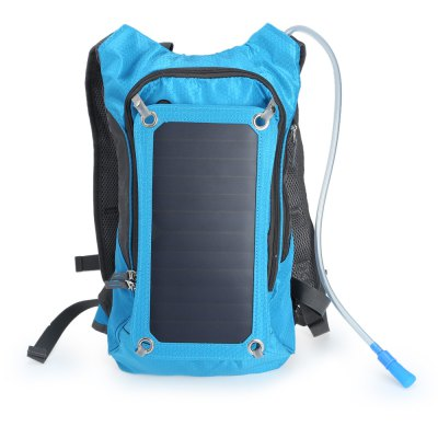 Compact nylon 10l solar backpack bag with 2l water bag...