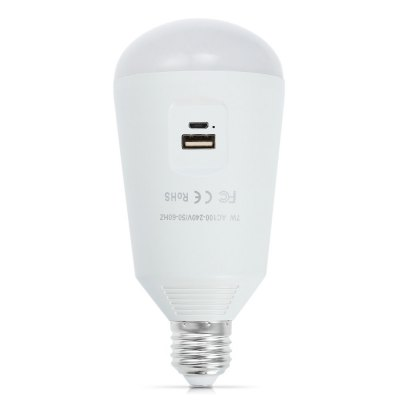 7W USB Rechargeable LED Bulb Mobile Phone Charger