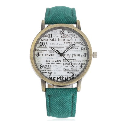 Retro Old Newspaper Pattern Dial Unisex Quartz WatchUnisex Watches<br>Retro Old Newspaper Pattern Dial Unisex Quartz Watch<br><br>People: Female table,Male table<br>Watch style: Retro<br>Available color: Army green,Black,Brown,Gray<br>Shape of the dial: Round<br>Movement type: Quartz watch<br>Display type: Analog<br>Case material: Alloy<br>Band material: PU Leather<br>Clasp type: Pin buckle<br>Dial size: 4 x 4 x 0.9 cm / 1.57 x 1.57 x 0.35 inches<br>Band size: 24 x 2 cm / 9.45 x 0.79 inches<br>Wearable length: 18.3 - 21.6 cm / 7.20 - 8.50 inches<br>Product weight: 0.030 kg<br>Package weight: 0.070 kg<br>Product size (L x W x H): 24.00 x 4.00 x 0.90 cm / 9.45 x 1.57 x 0.35 inches<br>Package size (L x W x H): 25.00 x 5.00 x 1.90 cm / 9.84 x 1.97 x 0.75 inches<br>Package Contents: 1 x Retro Unisex Quartz Watch