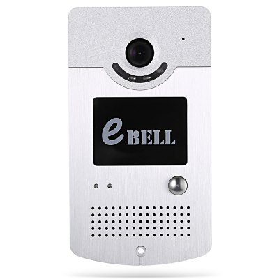 eBELL ATZ - DBV03P Smart IP Doorbell WiFi CameraAccess Control<br>eBELL ATZ - DBV03P Smart IP Doorbell WiFi Camera<br><br>Compatible OS: IOS, Android<br>Feature: Intercom, IP camera, Night Vision, Remote Control, Waterproof<br>Model: ATZ - DBV03P<br>Package Contents: 1xSmart IP Doorbell WiFi Camera, 1xPower Adapter, 1xRain Cover, 1xEnglish User Manual, 1xChinese User Manual, 2xConnect Cable, 5xScrew, 4xScrew Cap<br>Package size (L x W x H): 19.50 x 8.00 x 17.50 cm / 7.68 x 3.15 x 6.89 inches<br>Package weight: 0.786 kg<br>Product size (L x W x H): 15.50 x 8.50 x 3.50 cm / 6.1 x 3.35 x 1.38 inches<br>Product weight: 0.295 kg<br>Sensor: CMOS<br>Sensor size (inch): 1/4<br>Type ( Access Control ): Video Door Phones