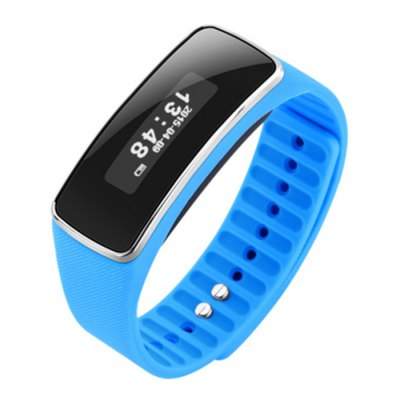 V5S Bluetooth 4.0 Smart WristbandSmart Watches<br>V5S Bluetooth 4.0 Smart Wristband<br><br>Alert type: Vibration<br>Available Color: Black,Blue,Orange<br>Band material: Silicone<br>Band size: 23 x 2 cm / 9.06 x 0.79 inches<br>Battery  Capacity: 70mAh<br>Bluetooth calling: Caller ID dispay,Callers name display,Phone call reminder<br>Bluetooth Version: Bluetooth 4.0<br>Case material: ABS<br>Charging Time: About 2hours<br>Compatability: Android4.3 / iOS 7.0 and above systems<br>Compatible OS: Android, IOS<br>Dial size: 4.9 x 2 x 1.1 cm / 1.93 x 0.79 x 0.43 inches<br>Health tracker: Pedometer,Sedentary reminder,Sleep monitor<br>Language: English,Simplified Chinese<br>Messaging: Message reminder<br>Notification: Yes<br>Notification type: Facebook, Wechat, Twitter<br>Operating mode: Press button<br>Other Function: Alarm<br>Package Contents: 1 x V5S Bluetooth 4.0 Smart Wristband, 1 x Charging Cable, 1 x Chinese and English User Manual<br>Package size (L x W x H): 10.00 x 8.60 x 3.60 cm / 3.94 x 3.39 x 1.42 inches<br>Package weight: 0.0960 kg<br>People: Female table,Male table<br>Product size (L x W x H): 23.00 x 2.00 x 1.10 cm / 9.06 x 0.79 x 0.43 inches<br>Product weight: 0.0360 kg<br>Remote control function: Remote Camera<br>Screen: OLED<br>Shape of the dial: Rectangle<br>Standby time: 15 Days<br>Type of battery: Li-ion Battery<br>Waterproof: Yes