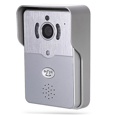 eBELL ATZ - DBV01P - 433MHz Smart IP Doorbell WiFi CameraAccess Control<br>eBELL ATZ - DBV01P - 433MHz Smart IP Doorbell WiFi Camera<br><br>Compatible OS: IOS, Android<br>Feature: Intercom, IP camera, Night Vision, Remote Control, Waterproof<br>Model: ATZ - DBV01P - 433MHz<br>Package Contents: 1 x Smart IP Doorbell WiFi Camera, 1 x Power Adapter, 1 x Rain Cover, 1 x Indoor Bell, 1 x English User Manual, 1 x Chinese User Manual, 2 x Connect Cable, 7 x Screw, 6 x Screw Cap<br>Package size (L x W x H): 22.50 x 19.50 x 8.00 cm / 8.86 x 7.68 x 3.15 inches<br>Package weight: 0.858 kg<br>Product size (L x W x H): 13.50 x 8.50 x 3.00 cm / 5.31 x 3.35 x 1.18 inches<br>Product weight: 0.226 kg<br>Sensor: CMOS<br>Sensor size (inch): 1/4<br>Type ( Access Control ): Video Door Phones