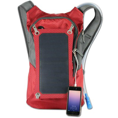 Compact Nylon 10L Solar Backpack Bag with 2L Water BagBackpacks<br>Compact Nylon 10L Solar Backpack Bag with 2L Water Bag<br><br>Best Use: Camping,Climbing,Cycling,Hiking,Traveling<br>Capacity: 10L<br>Gender: Unisex<br>Package Contents: 1 x Solar Backpack, 1 x Solar Panel, 1 x Water Bag, 1 x USB Cable, 1 x English User Manual<br>Package Dimension: 41.00 x 11.00 x 5.00 cm / 16.14 x 4.33 x 1.97 inches<br>Package weight: 0.9910 kg<br>Product Dimension: 25.00 x 10.00 x 40.00 cm / 9.84 x 3.94 x 15.75 inches<br>Product weight: 0.5550 kg
