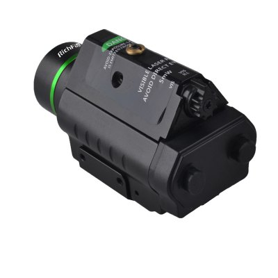 RichFire Cree XRE R2 LED Green Dot Sight FlashlightLED Flashlights<br>RichFire Cree XRE R2 LED Green Dot Sight Flashlight<br><br>Available Light Color: Green,White<br>Battery Quantity: 2 x CR123A battery (included)<br>Battery Type: CR123A<br>Beam Distance: 400-500m<br>Body Material: Aluminium Alloy<br>Brand: RichFire<br>Circuitry: 300mA (LED); 260mA (Laser)<br>Emitters: Cree XRE R2, Other<br>Emitters Quantity: 2<br>Feature: Lightweight<br>Function: Hunting<br>Lens: Glass Lens<br>Lumens Range: 1-200Lumens<br>Luminous Flux: 100Lm<br>Max.: 3.5h (max)<br>Mode: 3 (LED; Laser; LED + Laser)<br>Model: SF-P14<br>Package Contents: 1 x RichFire SF-P14 LED Pistol Flashlight, 2 x CR123A Battery, 2 x Wrench, 1 x English User Manual<br>Package size (L x W x H): 11.00 x 7.00 x 5.70 cm / 4.33 x 2.76 x 2.24 inches<br>Package weight: 0.196 kg<br>Power Source: Battery<br>Product size (L x W x H): 8.60 x 4.70 x 4.70 cm / 3.39 x 1.85 x 1.85 inches<br>Product weight: 0.127 kg<br>Reflector: Aluminum Textured Orange Peel Reflector<br>Working Voltage: 6V