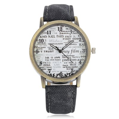 Retro Old Newspaper Pattern Dial Unisex Quartz WatchUnisex Watches<br>Retro Old Newspaper Pattern Dial Unisex Quartz Watch<br><br>Available Color: Army green,Black,Brown,Gray<br>Band material: PU Leather<br>Band size: 24 x 2 cm / 9.45 x 0.79 inches<br>Case material: Alloy<br>Clasp type: Pin buckle<br>Dial size: 4 x 4 x 0.9 cm / 1.57 x 1.57 x 0.35 inches<br>Display type: Analog<br>Movement type: Quartz watch<br>Package Contents: 1 x Retro Unisex Quartz Watch<br>Package size (L x W x H): 25.00 x 5.00 x 1.90 cm / 9.84 x 1.97 x 0.75 inches<br>Package weight: 0.070 kg<br>People: Female table,Male table<br>Product size (L x W x H): 24.00 x 4.00 x 0.90 cm / 9.45 x 1.57 x 0.35 inches<br>Product weight: 0.030 kg<br>Shape of the dial: Round<br>Watch style: Retro<br>Wearable length: 18.3 - 21.6 cm / 7.20 - 8.50 inches