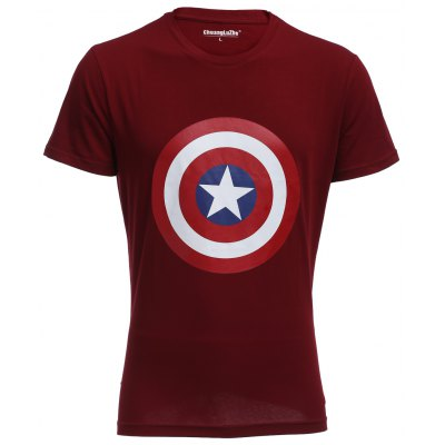 Captain America Red T Shirt