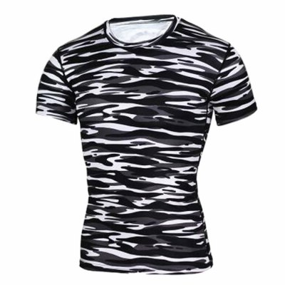 Black And White Camouflage T Shirt Mens